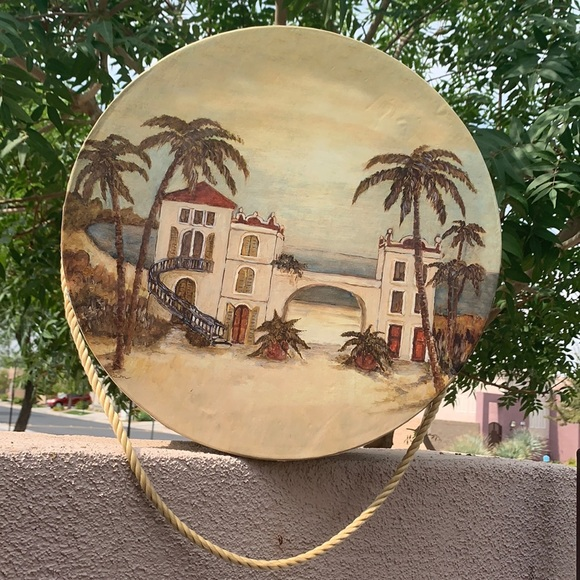 Large Hat Box & LidTropical Design 16 Inches Round